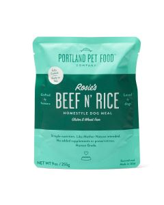 Portland Pet Rosie's Beef N' Rice Meal Pouch Dog Treats 9oz