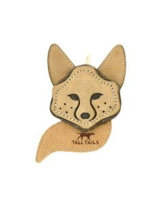 Tall Tails Leather Scrappy Critter Fox Dog Toy