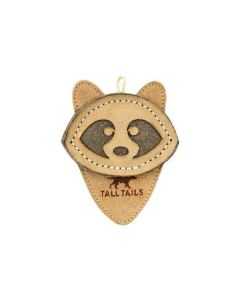 Tall Tails Leather Scrappy Critter Raccoon Dog Toy