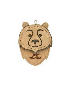 Tall Tails Leather Scrappy Critter Bear Dog Toy