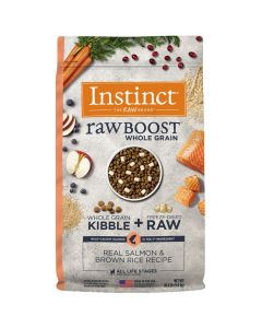 Nature's Variety Instinct Raw Boost Whole Grain Real Salmon & Brown Rice Dry Dog Food 20lb