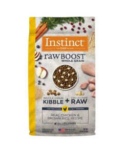Nature's Variety Instinct Raw Boost Whole Grain Real Chicken & Brown Rice Dry Dog Food 4.5lb