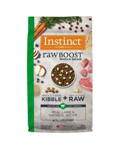 Nature's Variety Instinct Raw Boost Whole Grain Real Lamb & Oatmeal Dry Dog Food 4.5lb