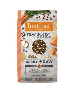 Nature's Variety Instinct Raw Boost Whole Grain Real Salmon & Brown Rice Dry Dog Food 4.5lb