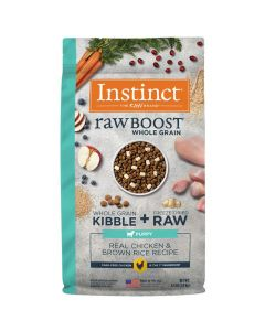 Nature's Variety Instinct Raw Boost Whole Grain Recipe with Real Chicken & Brown Rice for Puppies 4.5lb