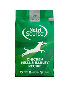 Nutrisource Choice Chicken Meal & Barley Recipe Dry Dog Food 30lb