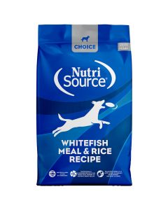 Nutrisource Choice Whitefish Meal & Rice Recipe Dry Dog Food 30lb