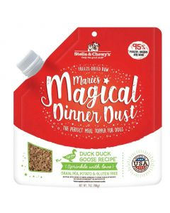 Stella and Chewys Marie's Magical Dinner Dust Duck Duck Goose Dog Meal Topper 7oz