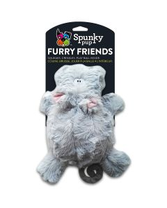 Spunky Pup Hippo With Ball Squeaker Dog Toy