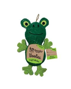 Spunky Pup Mini Woolies Frog Dog Toy