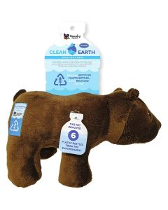 Spunky Pup Clean Earth Plush Bear Dog Toy Large