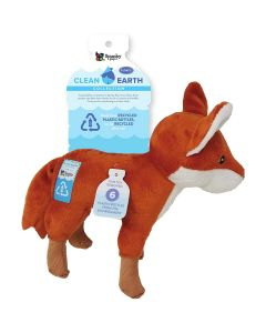 Spunky Pup Clean Earth Plush Fox Dog Toy Large
