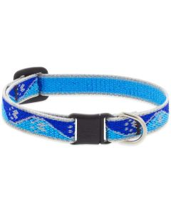 """Lupine Reflective Cat Collar 1/2"""" X 8""""-12"""" Blue Paws"""