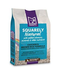 Squarely Natural Feline Chicken & Brown Rice 10lb