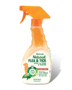 Tropiclean Natural Flea & Tick Spray For Pets 16oz
