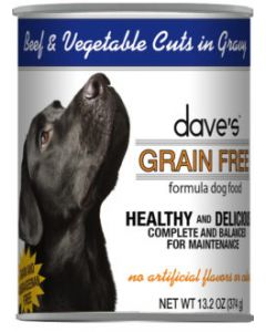 Dave's Pet Food Grain Free Beef and Vegetable Cuts in Gravy 13oz