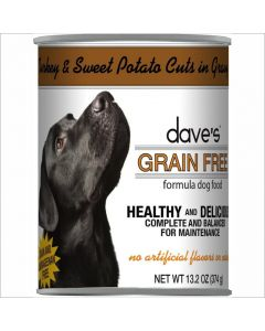 Dave's Pet Food Grain Free Turkey Canned Dog Food 13.2oz