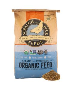Scratch and Peck Soy Free Organic Broiler + Corn 16% 40lb