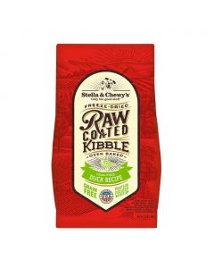 Stella and Chewys Raw Coated Cage Free Duck Recipe Dry Dog Food 22lb