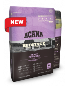 Acana Heritage Feast Dry Dog Food 25lb