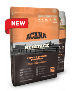 Acana Heritage Puppy & Junior Dry Dog Food 25lb