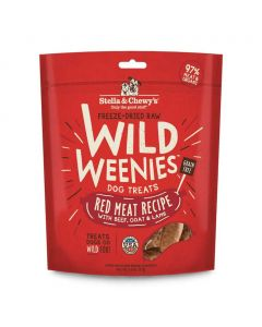 Stella and Chewys Red Meat Wild Weenies Dog Treats 3.25oz