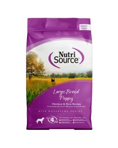 Nutrisource Chicken&Rice Large Breed Puppy Formula Dry Dog Food 15lb