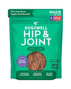 Dogswell Grillers Hip & Joint Duck Recipe Grain-Free Dog Treats 20oz