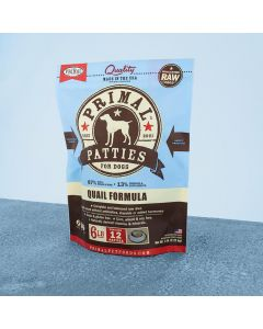 Primal Raw Frozen Canine Quail Patties 6lb
