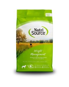 Nutrisource Chicken & Rice Weight Management Adult Dry Dog Food 15lb