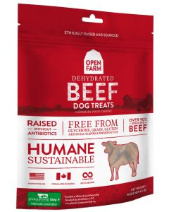 Open Farm Dehydrated Beef Treats for Dogs 4.5oz