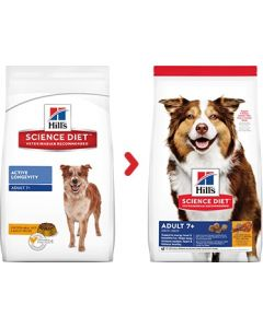Science Diet Adult 7+ Chicken Recipe Dry Dog Food 15lb