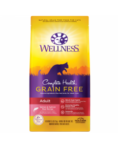 Wellness Complete Health Grain Free Adult Salmon Recipe for Cats 5.5lb
