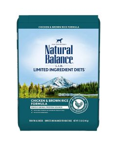 Natural Balance Limited Ingredient Chicken Rice Dry Dog Food 12lb