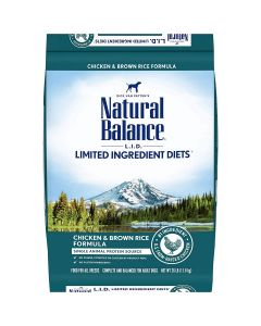 Natural Balance Limited Ingredient Chicken Rice Dry Dog Food 26lb