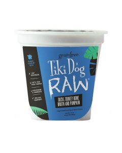 Tiki Dog Raw Duck, Turkey Bone Broth and Pumpkin Dog Food 24oz