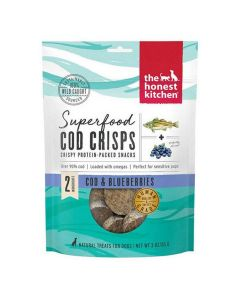 Honest Kitchen Superfood Cod Crisps Blueberry Dog Treats 3oz