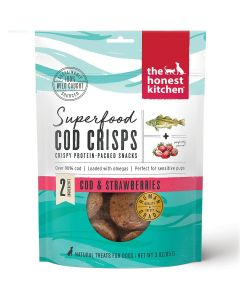 Honest Kitchen Superfood Cod Crisps Strawberry Dog Treats 3.5oz
