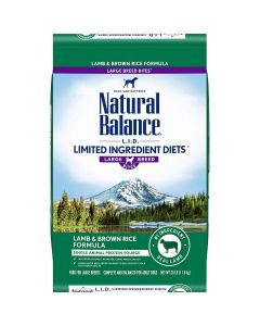 Natural Balance Lamb Brown Rice Large Breed Dry Dog Food 26lb