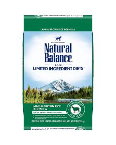 Natural Balance Limited Ingridients Lamb Rice Dry Dog Food 26lb