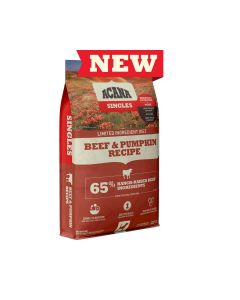 Acana Grain Free Beef Pumpkin Singles Dry Dog Food 25lb