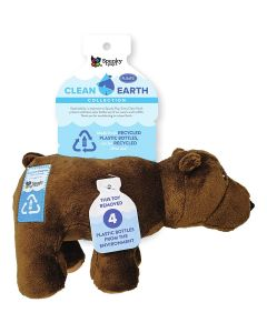 Spunky Pup Clean Earth Plush Bear Dog Toy Small