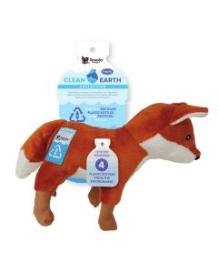 Spunky Pup Clean Earth Plush Fox Dog Toy Small