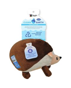 Spunky Pup Clean Earth Plush Hedgehog Dog Toy Large