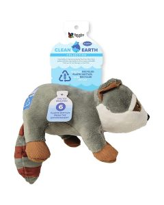 Spunky Pup Clean Earth Plush Raccoon Dog Toy Large