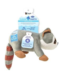 Spunky Pup Clean Earth Plush Raccoon Dog Toy Small