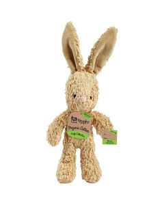 Spunky Pup Organic Cotton Bunny Dog Toy Small